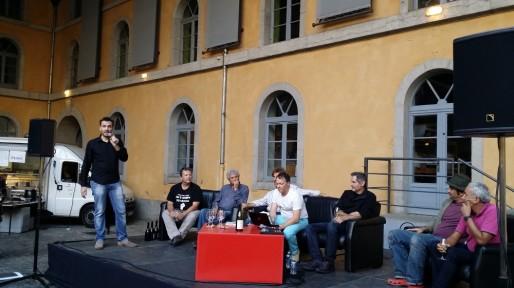 Un débat et des verres au salon des vins Rue89Lyon, première édition.