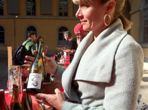 Isabelle Perraud au salon des vins Rue89 Lyon, première édition. Crédit : Rue89Lyon.