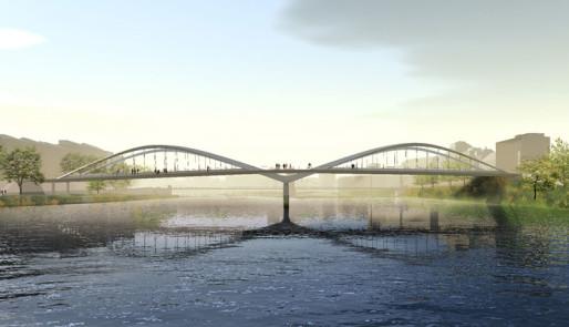Le nouveau pont Schuman. © Explorations Architecture
