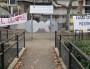 Les grilles de l'école Gilbert Dru dans le 7e arrondissement de Lyon, occupée l'année dernière par des parents d'élèves et enseignants, membres du Collectif Jamais sans toit. ©LB/Rue89Lyon