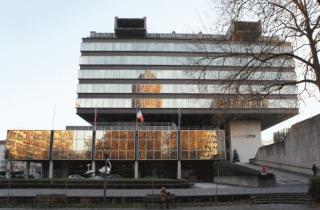 Hôtel de communauté du Grand Lyon 20 Rue du Lac. Crédit Guillaume Bernard/Rue89Lyon