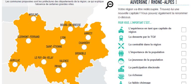 Capitales des nouvelles régions : jouez à choisir la vôtre grâce aux Décodeurs