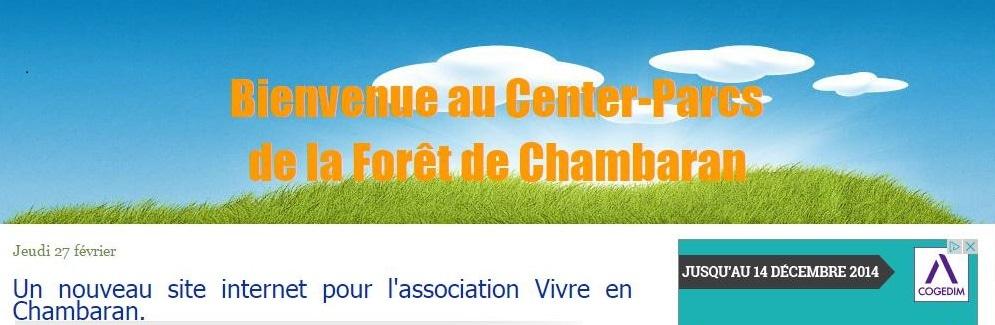 """Capture d'écran de l'association """"Vivre en Chambaran"""", constituée d'habitants de Royan convaincus par le projet de Center Parc."""
