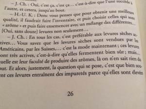 Page intérieure de « Le vin en Question » aux éditions Jean-Paul Rocher.