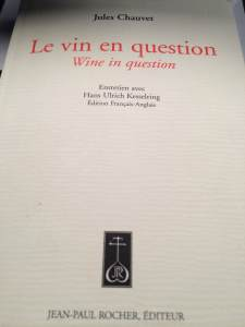 Couverture de « Le vin en Question » aux éditions Jean-Paul Rocher.