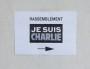 Affiche indiquant le lieu de rassemblement des participants à la minute de silence pour Charlie Hebdo à l'Université Lyon II Crédit GB/Rue89 Lyon.