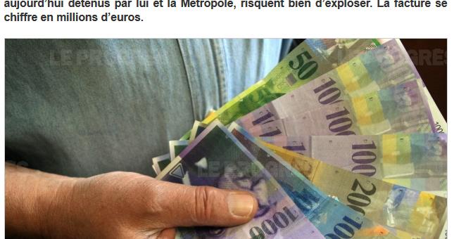Pour la Métropole de Lyon, la note salée des emprunts toxiques après la hausse du franc suisse