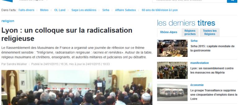 Colloque à Lyon sur l'intégrisme et la radicalisation religieuse