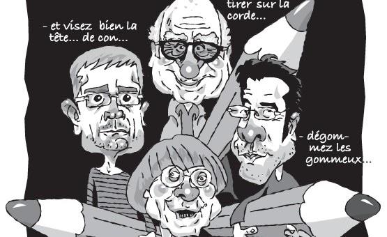 Caricatures : les Potins d'Angèle rendent hommage à Charlie Hebdo