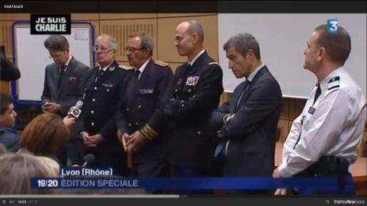 Capture d'écran du reportage réalisé par France 3 sur la cérémonie au fort Montluc, du jeudi 8 janvier.