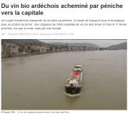 vin bio ardéchois - péniche