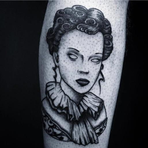 tatouage visage femme
