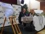 conférence de presse Décines - Grand Stade : Jean-Michel Aulas (président de l'OL) & Laurence Fautra (maire de Décines-Charpieu) / Crédits Axel Poulain/Rue89Lyon