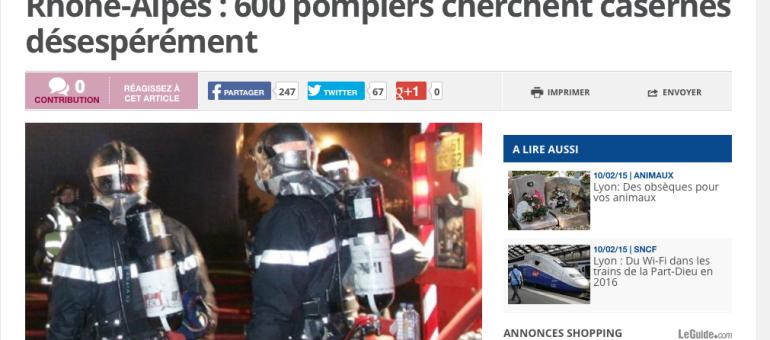 En Rhône-Alpes, 600 pompiers à la recherche de casernes