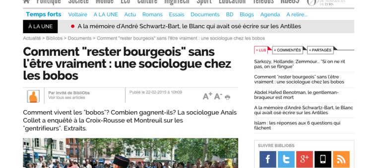 Les «bobos» ou la gentrification de la Croix-Rousse, à Lyon, dans un bouquin de socio
