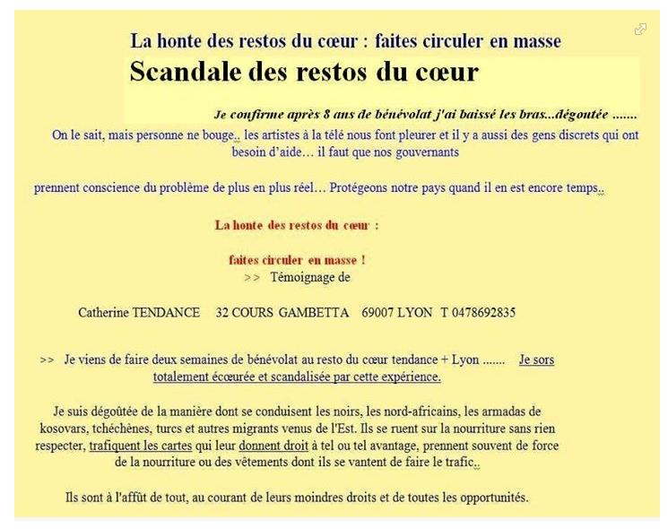 """Capture d'écran du faux mail de """"Catherine Tendance"""", personnage inventé pour ce hoax."""