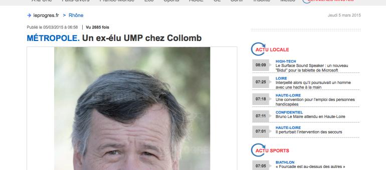 A la Métropole, Gérard Collomb choisit un ex-élu UMP pour les affaires sociales