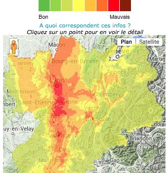La pollution sévit encore à Lyon jusque dans le Nord Isère