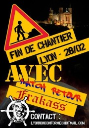 Flyer de l'inauguration du local Lyon Non Conforme.