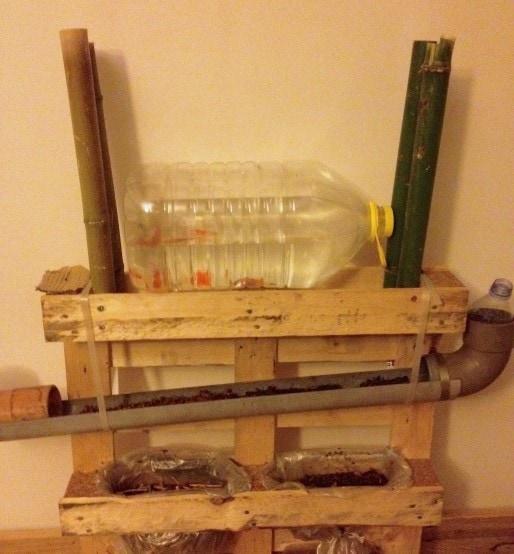 Projet d'aquaponie, prototype modèle réduit Crédits FC/Rue89Lyon