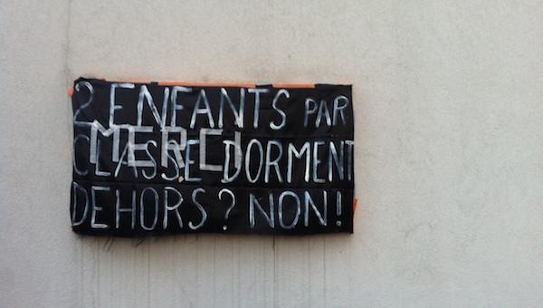Enfants SDF : à Oullins et Lyon 3e, les occupations d'écoles reprennent
