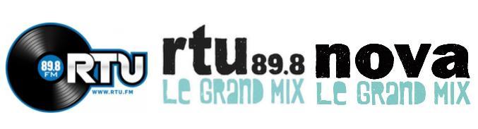 Évolution du logo RTU et rapprochement avec celui de Radio Nova