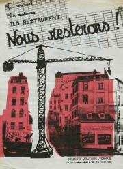 Affiche sérigraphiée par Papy@art - Collectif Utilitaire Lyonnais