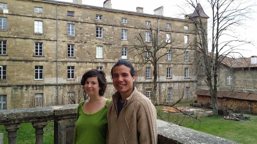 Daphné Vialan et Tchandra Cochet, deux membres de la communauté de l'Arche. ©LB/Rue89Lyon