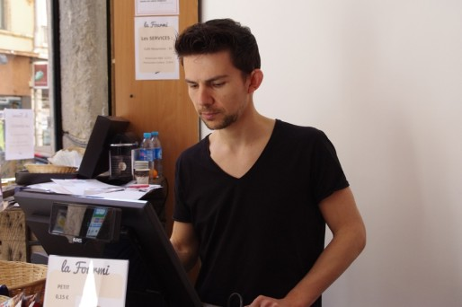 Pierre Christen, patron de La Fourmi. ©Léa Ménard/Rue89 Lyon