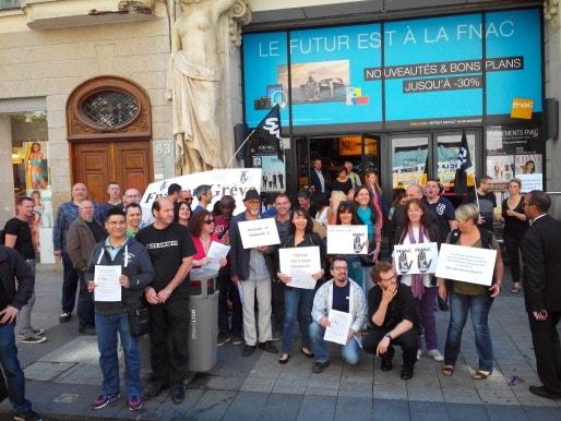 Les employés de la Fnac en grève