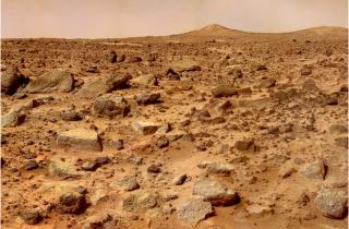 Pathfinder's rocky terrain, 1997. ©NASA/JPL
