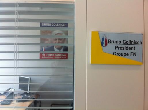 Le bureau de Bruno Gollnisch à la Région Rhône-Alpes. Crédit : DD/Rue89Lyon.
