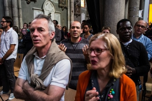 La messe de la Pentecôte, ce dimanche 24 mai. Crédit : Thomas Bernardi.