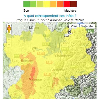 Fortes températures à Lyon : la pollution à l'ozone grimpe
