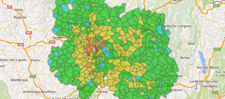 «Dans la région de Lyon, où habiter?»: ce que révèle l'appli Rue89Lyon