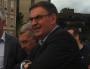 David Kimelfeld, lors de la traditionnelle visite de chantiers de Gérard Collomb (c'était en septembre 2015). Il était 1er vice-président de la Métropole de Lyon.