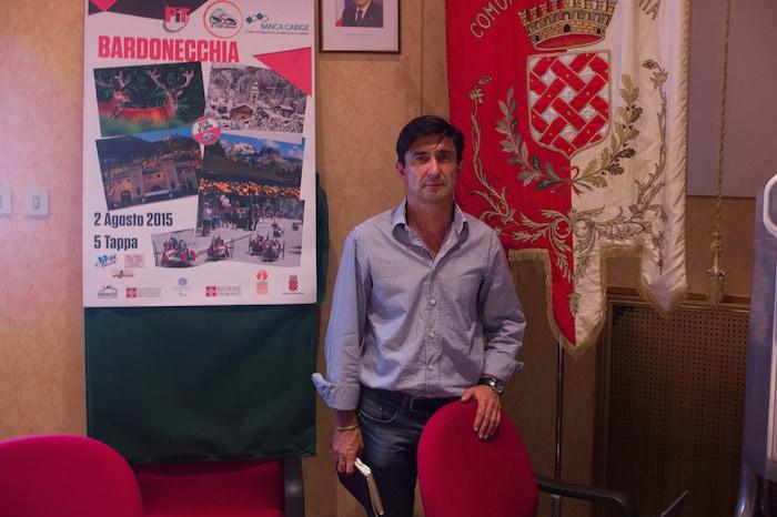 Le maire de Bardonecchia, Roberto Borgis en juillet 2015 ©Benjamin Vanderlick