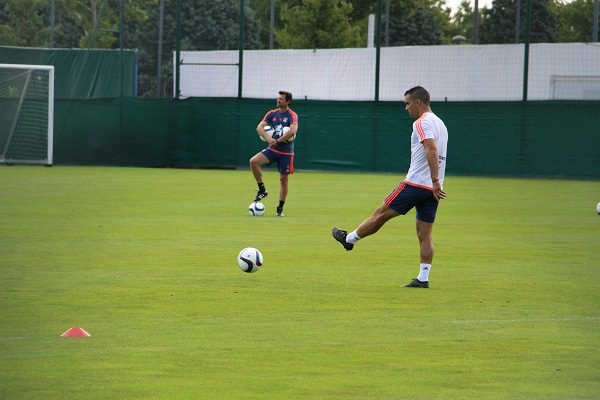 Jérémy Morel, à l'entraînement avec l'OL © LM/Rue89Lyon