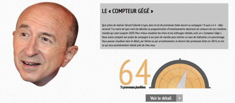 [Appli] Gérard Collomb va-t-il tenir ses promesses? Le «Compteur Gégé» vous dit tout