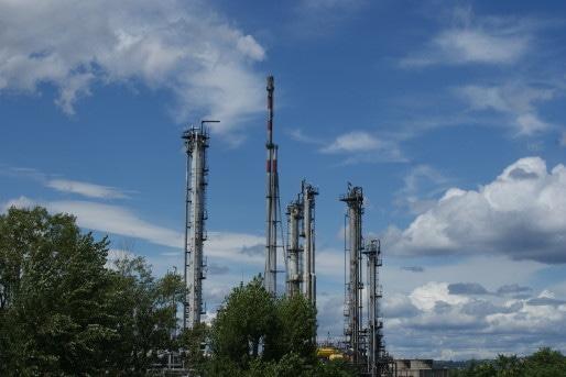 La torche nord de la raffinerie de Feyzin /©MP Rue89lyon