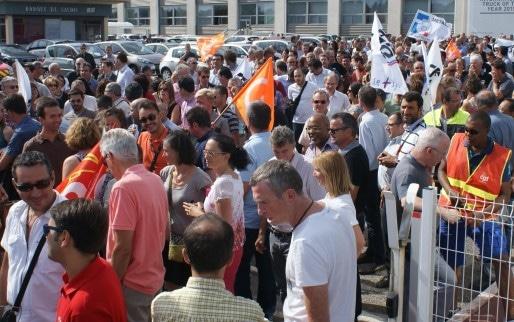200 à 300 personnes s'étaient mobilisés ce jeudi 27 août, sur le site Renaut Trucks de Vénissieux.