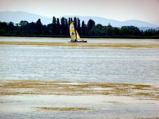 En 2010, navigation entre les pelouses au Grand Large - Crédit Benoît Frottier