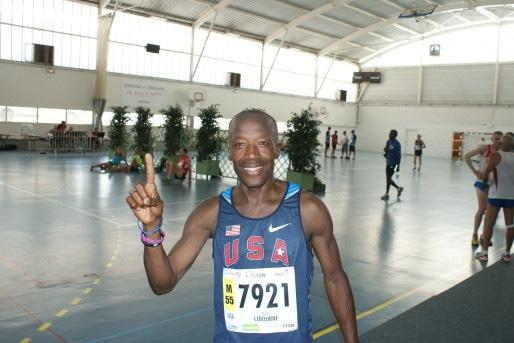 Anselm Lebourne, coureur américain au 800 et 1500 m