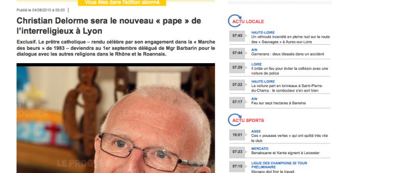 Le père Delorme en charge du dialogue interreligieux dans le Rhône