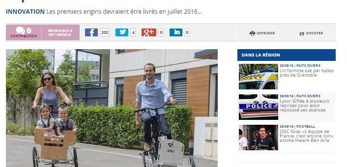 Un lyonnais invente un système pour transformer son vélo en triporteur