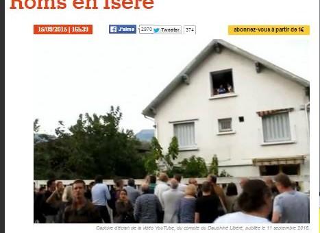Saint-Martin d'Hères : la vidéo d'une famille de Roms délogée par des riverains survoltés