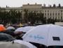 Rassemblement en faveur de l'accueil des réfugiés place Bellecour à Lyon le 12 septembre. ©LB/Rue89Lyon