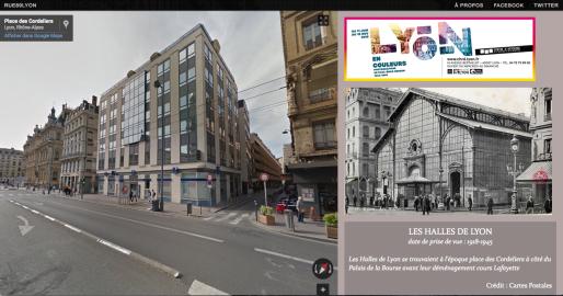 capture d'écran appli Lyon avant/après