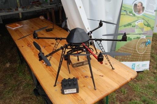 Drone multirotor et le capteur mis au point par Hi-Phen / Photo BE pour Rue89Lyon
