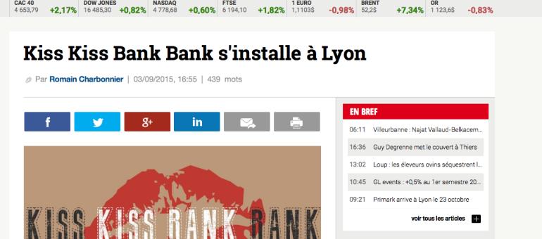 Un bureau de Kiss Kiss Bank Bank ouvre à Lyon